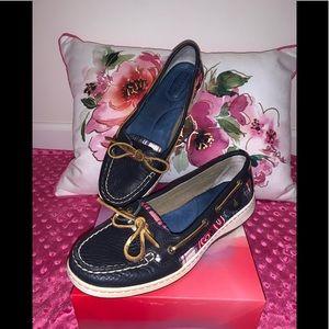Women's Sperry Angelfish Seersucker Boat Shoes 9M